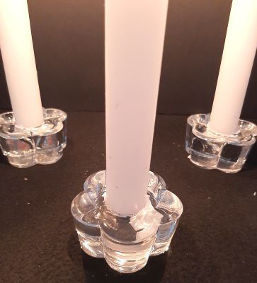 Picture of Candle holder - Glass dinner candle holder - 6cm (D) x 3cm (H)