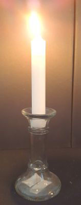 Picture of Candle holder - Glass dinner candle holder - 8cm (D) x 13cm (H)