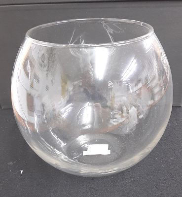 Picture of Candle holder - Glass fishbowl - 12cm (D) x 9cm (H)