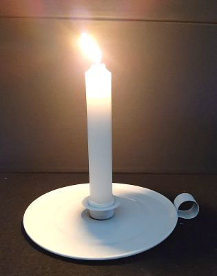 Picture of Candle holder - Steel dinner candle holder - 14cm (D) x 3cm (H)
