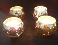 Picture of Candle holder - Metallic glass bowl - 6.5cm (D) x 5cm (H)