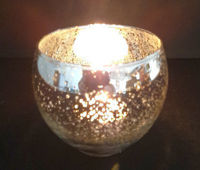 Picture of Candle holder - Metallic glass bowl - 8cm (D) x 7cm (H) OUT of STOCK