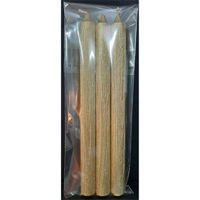 Picture of Metallic Coloured Dinner Candles - 3 Pack