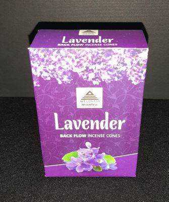 Picture of Wellness Mantra backflow incense - Lavender
