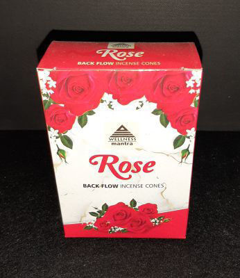 Picture of Wellness Mantra backflow incense - Rose