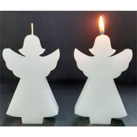 Picture of Angel candle - 2,6cm (L) x 8,5cm (W) x 14cm (H)