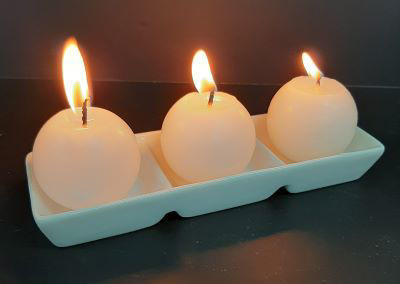 Picture of Candle holder - ceramic 3 x divisions